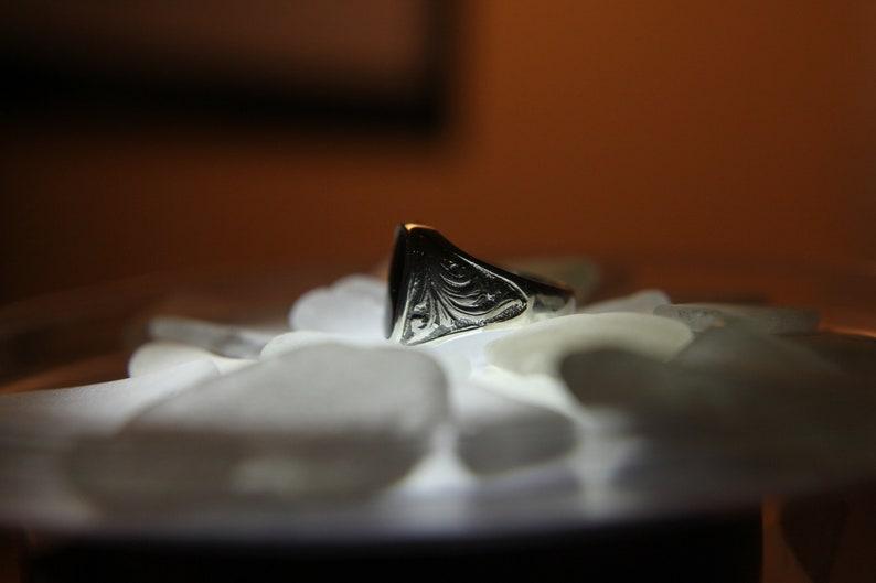 Black Onyx Men/'s Ring Pinky Ring Gift for Husband Man Minimalist Ring Signet Mens Ring Onyx Gemstone  Men jewelry