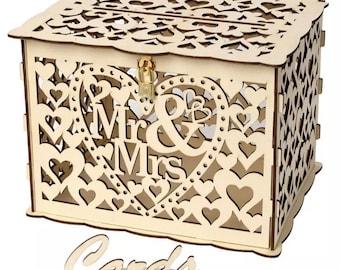 Wedding Card Box. Invitation or personal cards. Keep safe for wedding cards. DIY