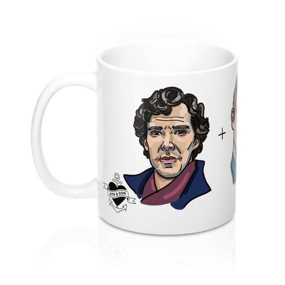 Funny Sherlock Mug: Sherlock Holmes Watson bébé secret, Benedict Cumberbatch tasse, tasse d'expéditeur, cadeau blague bâillon, OTP, fandom, tasse