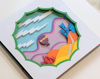 Sail Away - 3D Paper Art - Dreamy and Whimsical