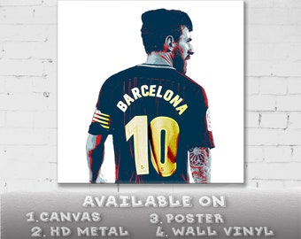 5899d4004 Lionel Messi Barcelona Print on Canvas Poster Sticker Decal Metal  Contemporary Abstract Drawing Wall Decor Art Print