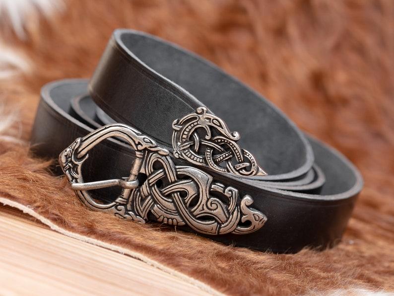 Urnes Dragons Viking Belt and Buckle image 0