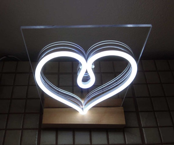 White Pink or LED LAMP HEART UVGqSzMp