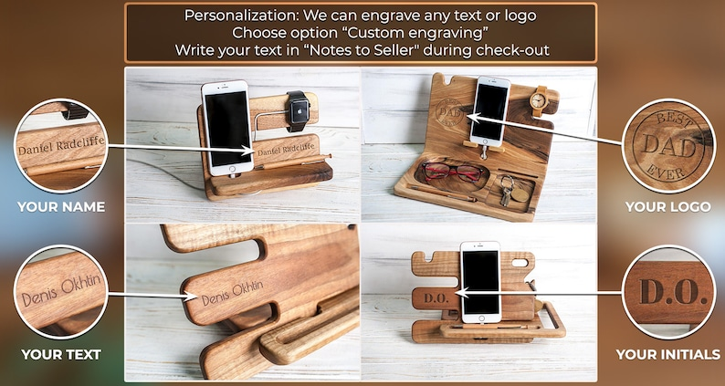 Anniversary gifts for men docking station,Anniversary gifts for men wooden,5 year anniversary gifts for men wood,Anniversary husband