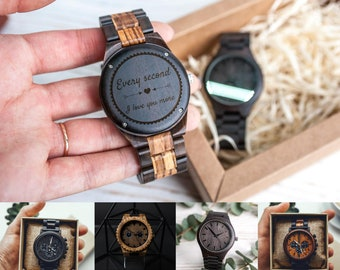 5th anniversary gift for men watch,5th anniversary gift for him wood,Anniversary gift for husband 5 years,Anniversary gift watch