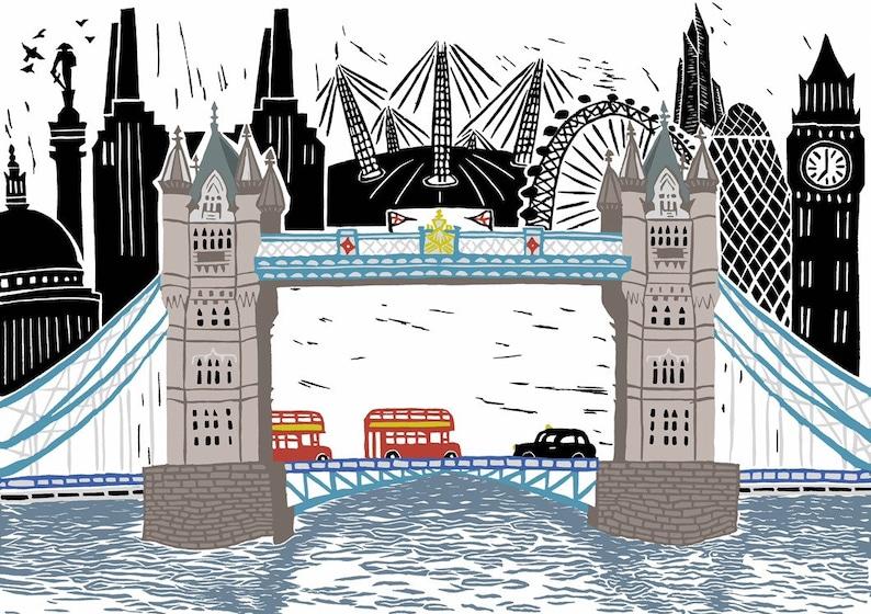 London Scene Fine Art Print image 0
