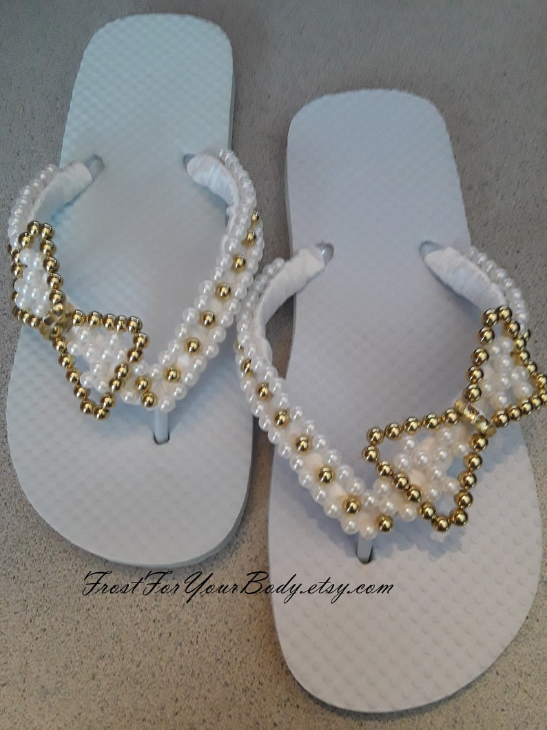 5a79168c6 FREE SHIPPING Women and Girls Youth Beaded BOW Flip Flops