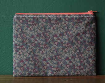 Liberty Cosmetic Bag/ Makeup Bag / Zip Pouch