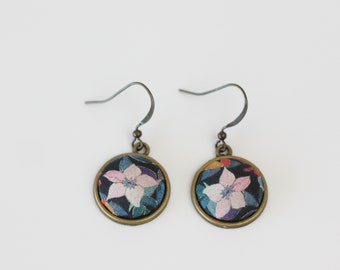 Liberty Fabric Earring Floral Jewellery