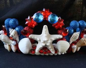 Fourth of July mermaid Crown
