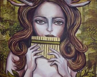 The Flutist (Original Artwork)