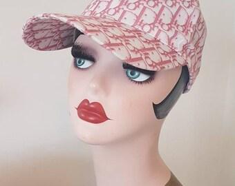 d5afa5b1faf Vintage 90 s Christian Dior ladies monogram Diorissimo logo cap hat woman.  Pink trotter