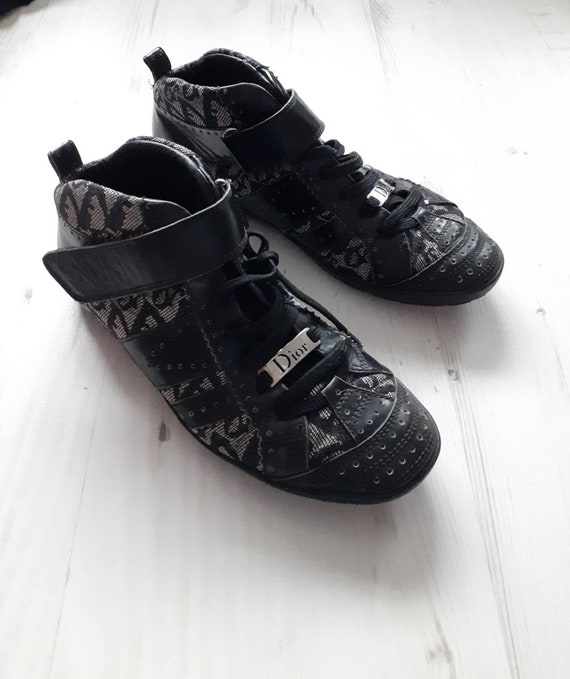 Vintage Dior trotter logo high top shoes pumps siz