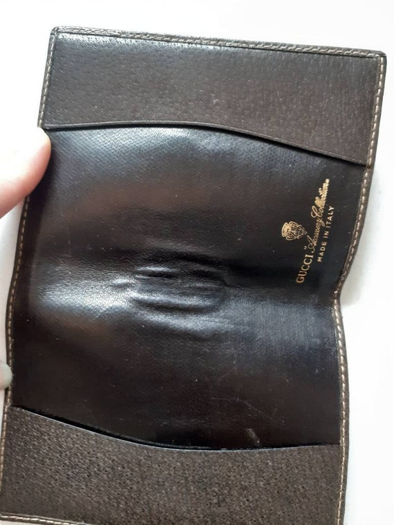 Gucci small classic monogram  leather vintage not… - image 2