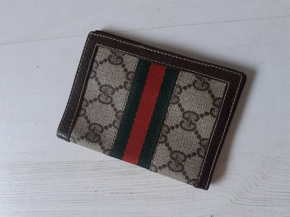 Gucci small classic monogram  leather vintage not… - image 1