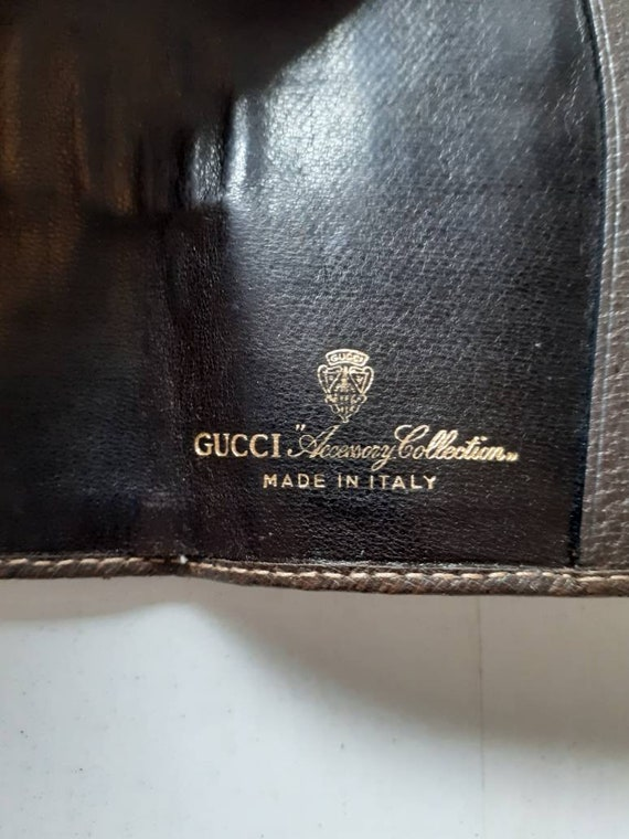 Gucci small classic monogram  leather vintage not… - image 3