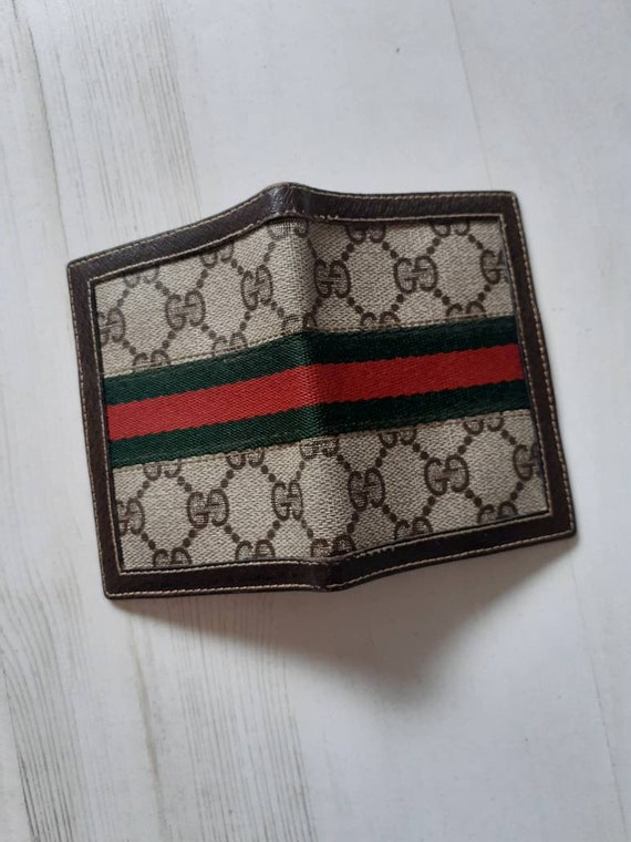 Gucci small classic monogram  leather vintage not… - image 4