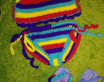 2pc Bathing Suit (Crochet)