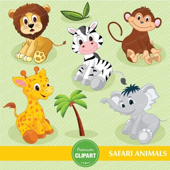 Safari Animals Digital Clipart Jungle Clip Art Baby Shower Clipart Nursery Clipart Jungle Animals Clipart Ca138