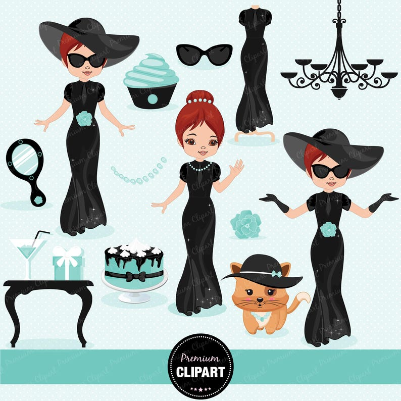 Mode Mädchen Clipart Chic Clipart Diva Clipart Glamour Etsy