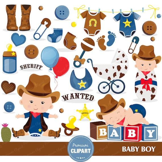 Cowboy Baby Dusche Clipart Baby Dusche Clipart Wilder Westen Etsy