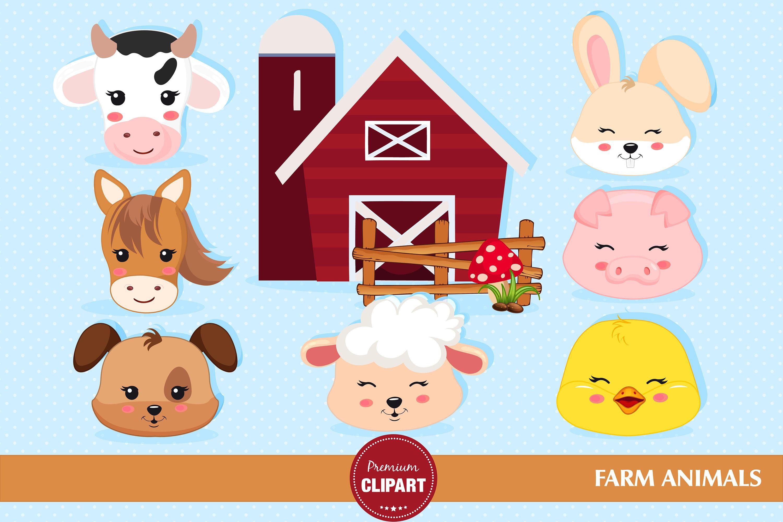 Bauernhof Tieren Clipart Bauernhof Tier Geburtstagsparty Etsy