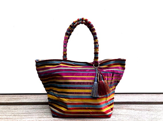 Unique Piece 50/% Hand-held bag Editors/' Fabrics SOLDES