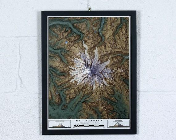 "Mt Rainier, 12x16"" Map"