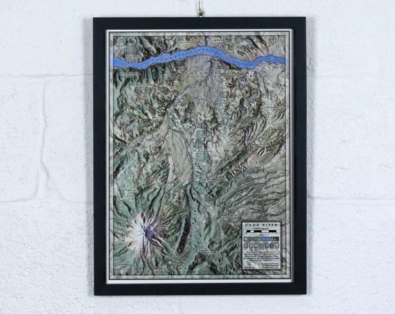 "Hood River, 12x16"" Map"