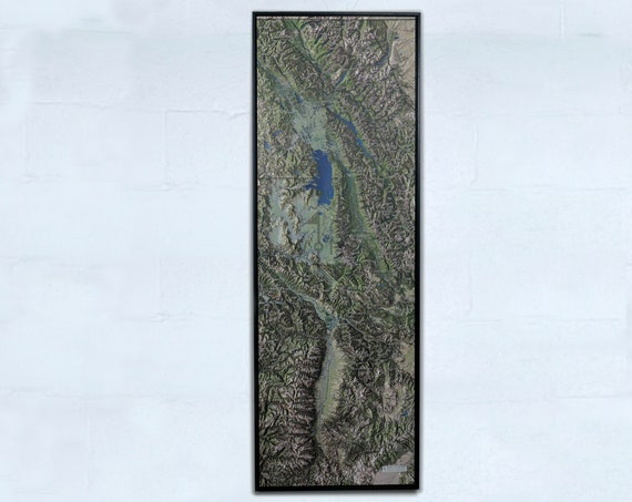 Five Valleys, 20x60 inch Canvas Map