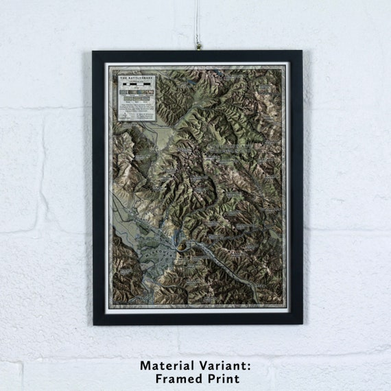 The Rattlesnake, 12x16 inch Large-scale Map