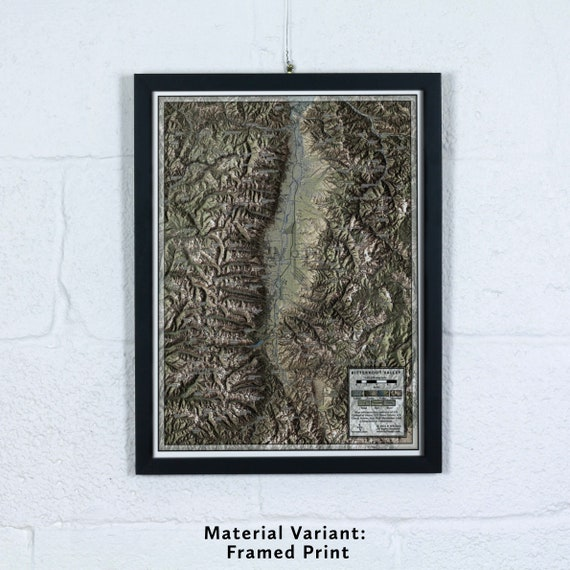 Bitterroot Valley, 12x16 inch Large-scale Map