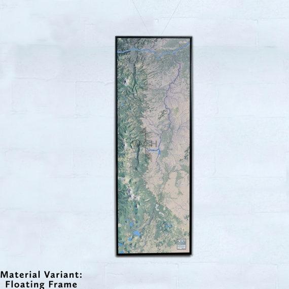 Deschutes River, 20x60 inch Canvas Map
