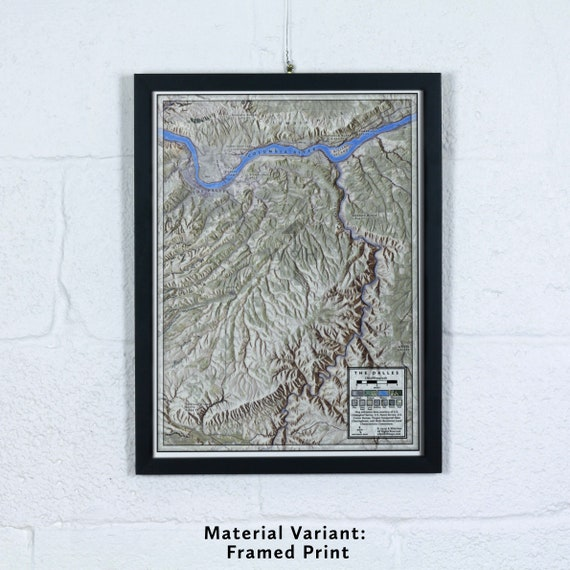 """The Dalles 12x16"""" Map"""