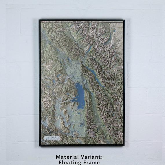 Flathead Valley, 24x36 inch Canvas Map