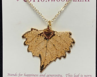 Birch Leaf Gold Dipped Pendant Real Leaf Jewelry Gold Dipped Earrings