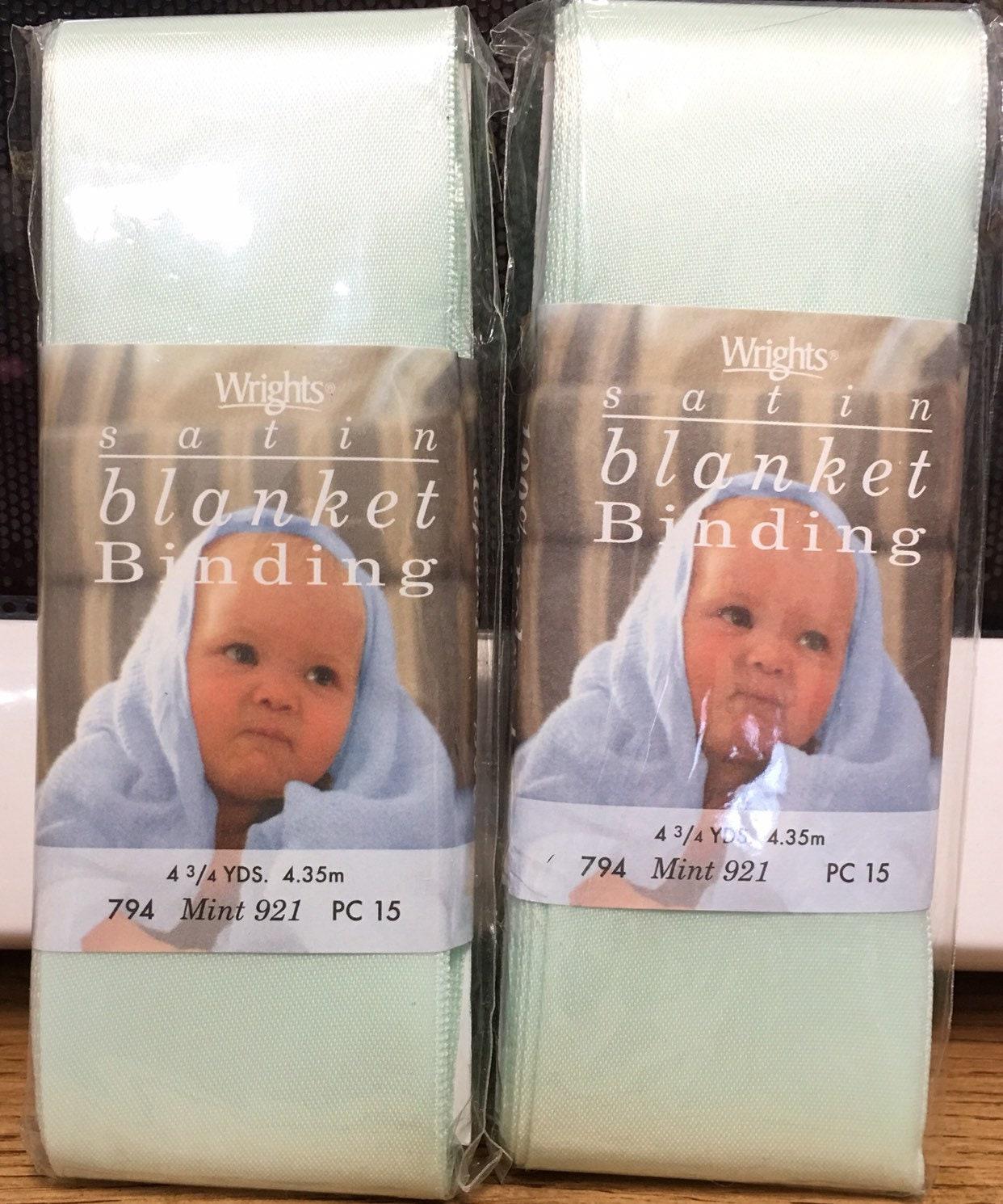 MINT 100/% Polyester NEW Single Fold Satin Blanket Binding 2 Inch 4-3//4 Yards
