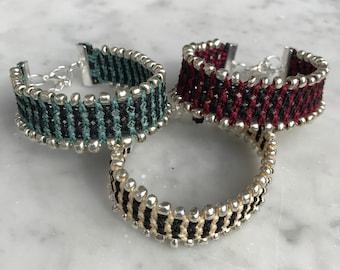 Macrame Beaded Bracelet  Friendship Bracelet