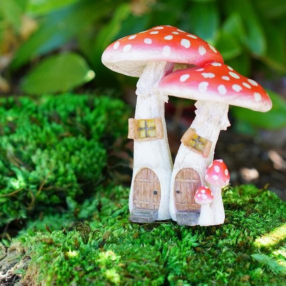 Jolie fée champignon rouge maisons - jardin de fée Miniature d'approvisionnement