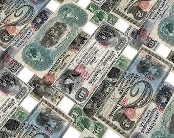 Old Money Vintage Currency Digital Collage Digital Printable Collage Sheet Ephemera USA Dollar Instant Download DIY Antique Bills Retro