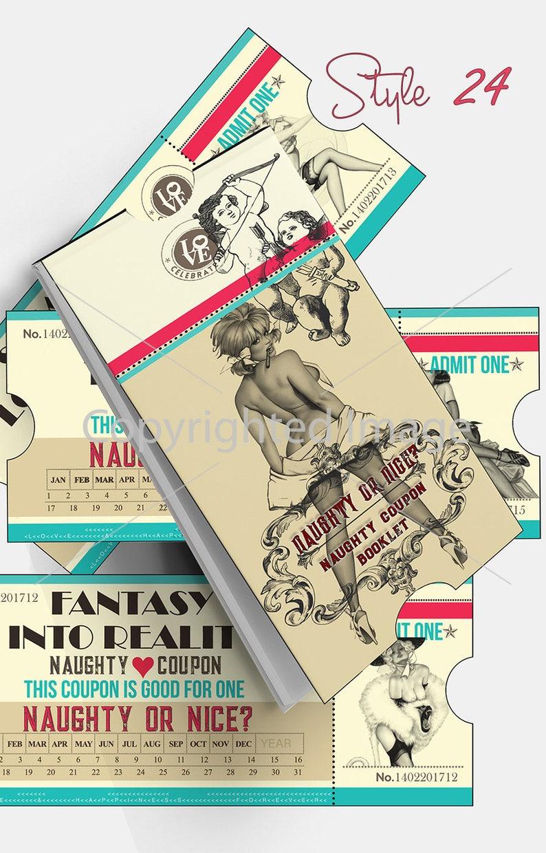 Printable Naughty Coupon Book Sex Coupons Printable Man Gift image 0