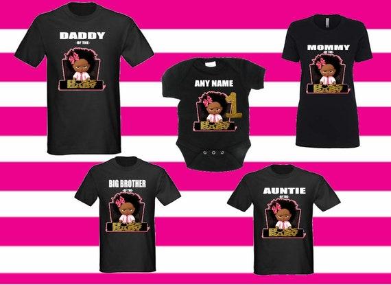 07b65289 Boss Baby girl / boy matching birthday T-shirt birthday boy | Etsy