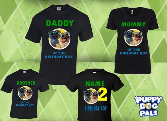Puppy Dog Pals Paws Matching Birthday T Shirt Birthday Boy Etsy