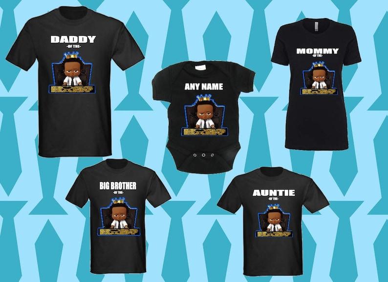 fa449e88 Boss Baby boy matching birthday T-shirt King boss baby | Etsy