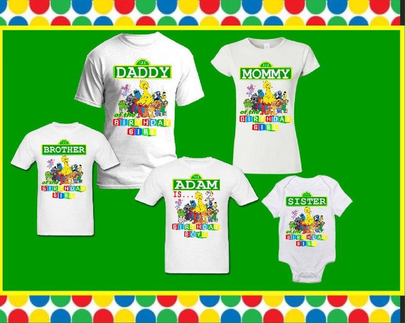47fd4bfb Plaza sesame street matching family elmo birthday T-shirt | Etsy