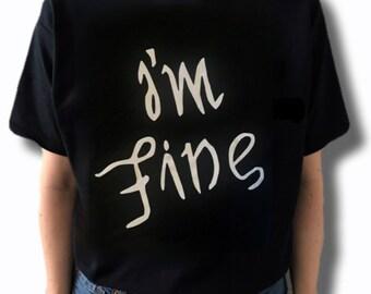 98fa4e670 BTS I'm Fine Ambigram T-Shirt