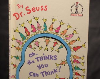 Oh the Thinks You Can Think! Dr. Seuss Beginner Books Grolier Book Club edition 1975