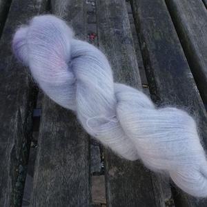 Lace Fingering KidMohairSilkPL002 50g Hand Dyed Yarn Fine Kid Mohair Silk