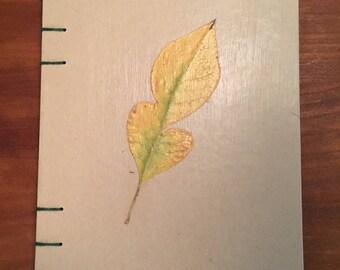 Pressed Autumn Leaf Journal