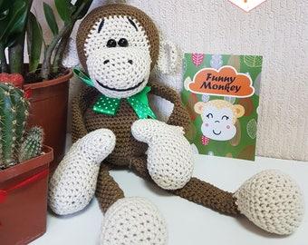 Amigurumi monkey/plush monkey/stuffed monkey/monkey crochet/crochet monkey/monkey amigurumi/monkey plush/crocheted monkey/monkey/amigurumi